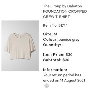 Foundation Crew Cropped T-Shirt